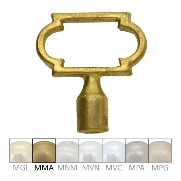 Schlüsselreiden in Messing matt. 35x38 mm Bild1