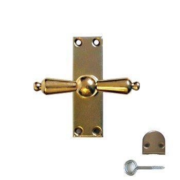 "Fenstergetriebe ""Münchner Getriebe""aus Eisenblech hell verzinkt B 30 mm x H 100 mm x T 18 mm Bild1"