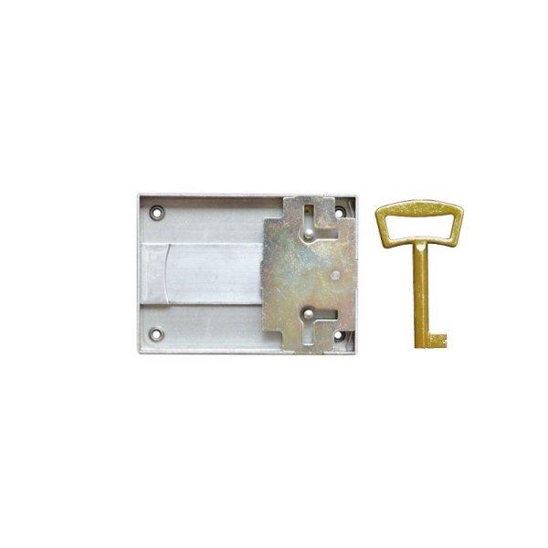 Aufschraubschloss AS005 Eisen bronziert Dornmaß: D70 mm Bild1