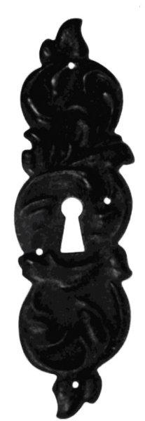 Schlüsselschild Hochkant mit Schlüsselloch, Eisen rostig, 55 x 180 mm der Serie BA023 Bild1