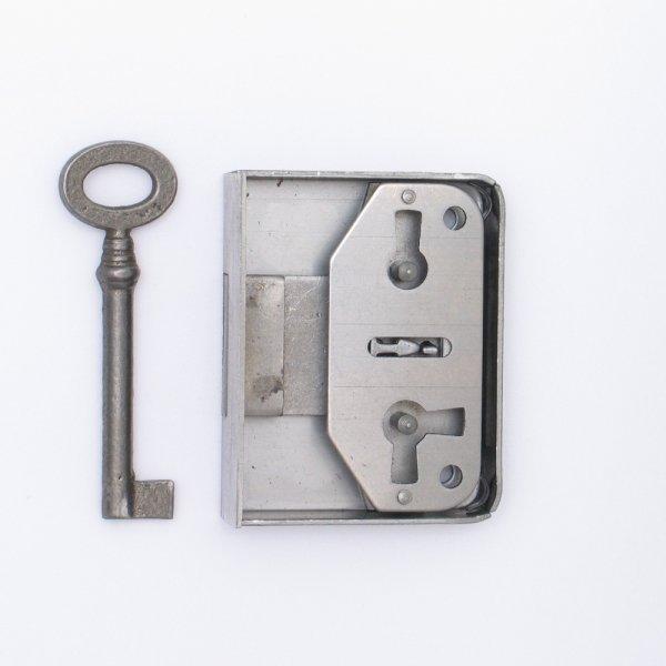 Aufschraubschloss AS001 Eisen roh Dornmaß: D35 mm Bild1