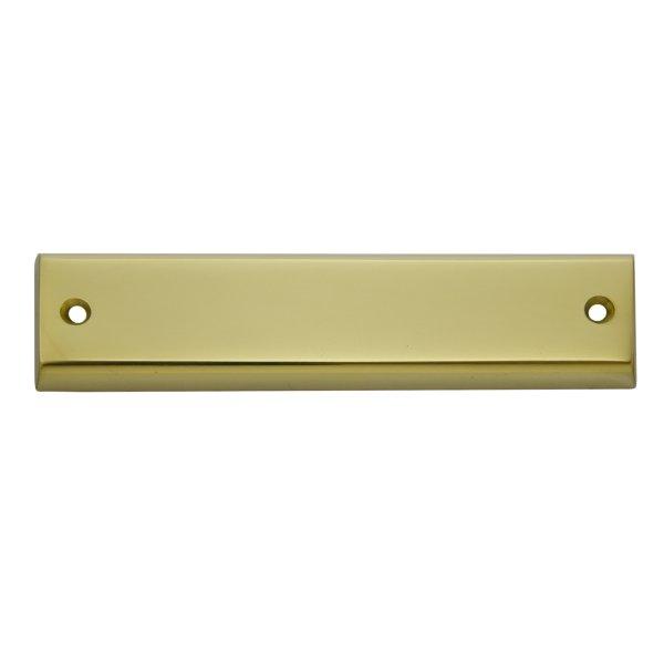 Namensschild Messing glänzend mit Schutzlack 150x35mm Bild1