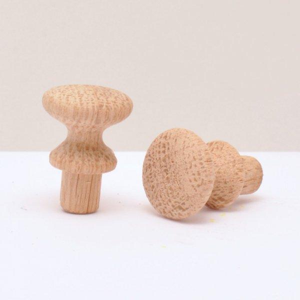 Möbelknöpfe in verschiedenen Hölzern und Durchmessern der Serie KN406 Bild1