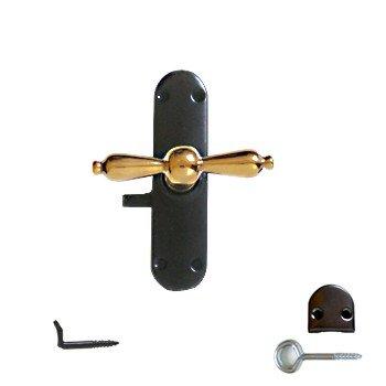 """Fenstergetriebe """"Gründerzeit"""" links Maße:B 32 mm x H 120 mm x T 13 mm Gesamttiefe ca 63 mm Bild1"""