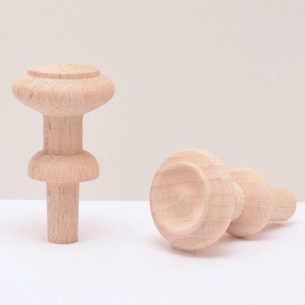 Möbelknopf aus Buche Kopfdurchmesser: ca. 25 mm Knopfhöhe: ca. 45 mm Bild1