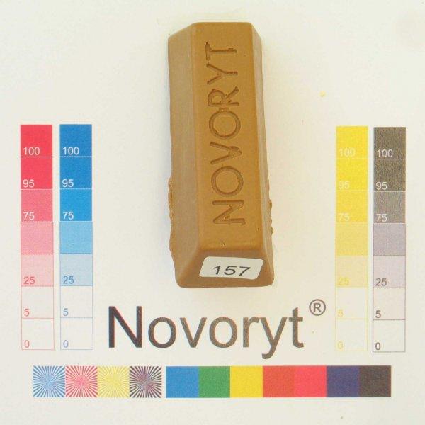 NOVORYT® Schmelzkitt - Farbe 157 ockerbraun 1 Stange der Serie HW003 Bild1