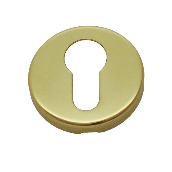 Schlüssellochrosette (PZ) in Messing D: 50 mm Bild1