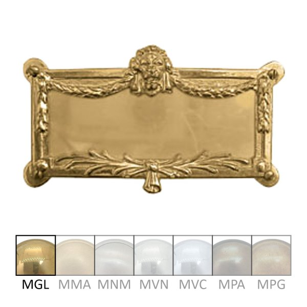 Namensschild Messing MGL 110 x 70 mm Serie NS001 Bild1