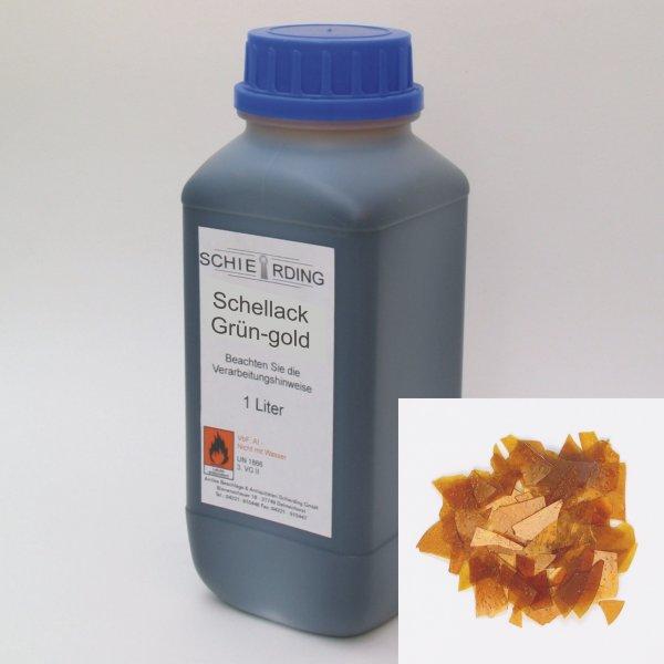 Gelöster Schellack grün-gold, 1 Liter der Serie LA003 Bild1