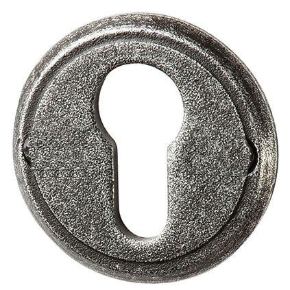 Schlüssellochrosette PZ-Lochung, Eisen schwarz passiviert D 53 mm der Serie TR530 Bild1
