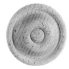 Rosette AH359 Maße: D75 mm Buche Bild1