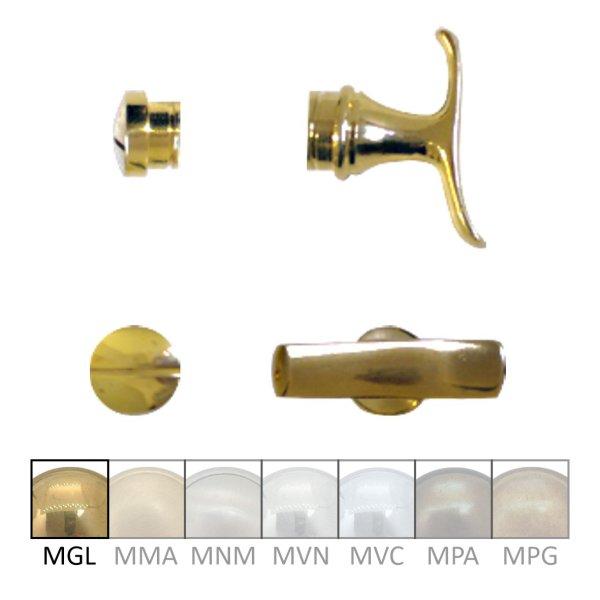 Bad-und WC-Riegel in Messing. 50x5 mm Bild1
