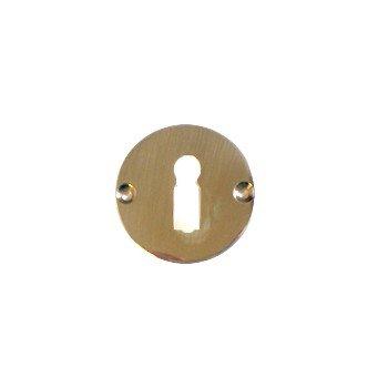 Schlüsselrosette mit Bundbartlochung, Messing Durchmesser: 45 mm Bild1