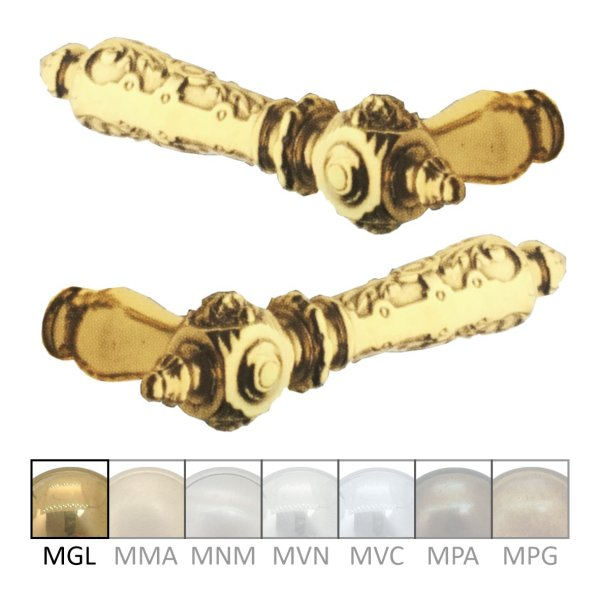 Türdrücker in Messing. Grifflänge: 135 mm. Bild1