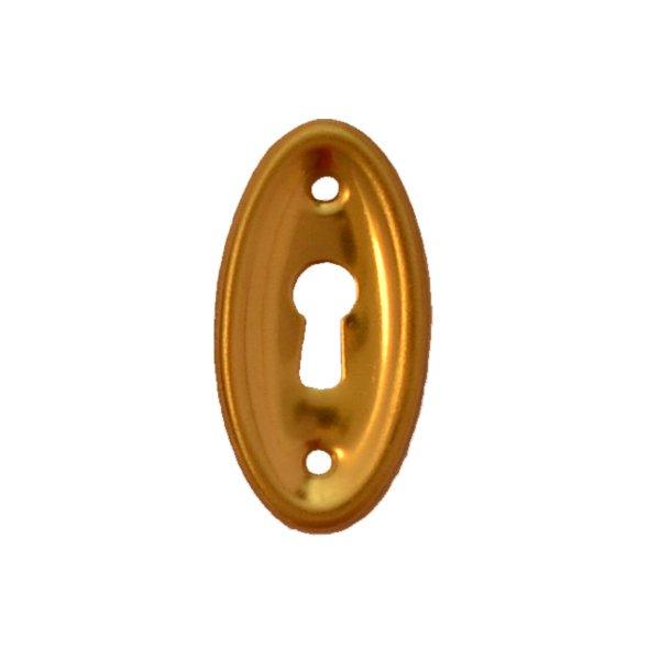 Hochkant mit Schlüsselloch AD002Art Deco Maße: 19 mm x 42 mm Messing patiniert, geputzt Bild1