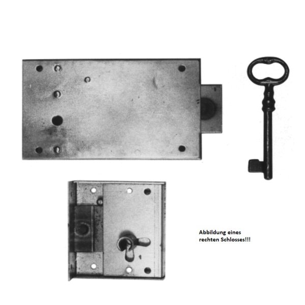 Aufschraubschloss aus Eisen mit Pfeife, D 110 mm links der Serie AS020 Bild1