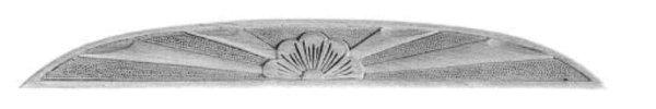 Holzapplikation AH252 Maße: 615 mm x 65 mm Buche Bild1