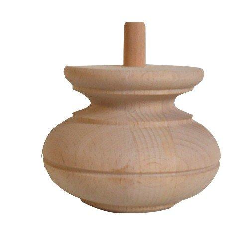 Möbelfuß in unterschiedlichen Holzarten und Maßender Serie HF029 Bild1