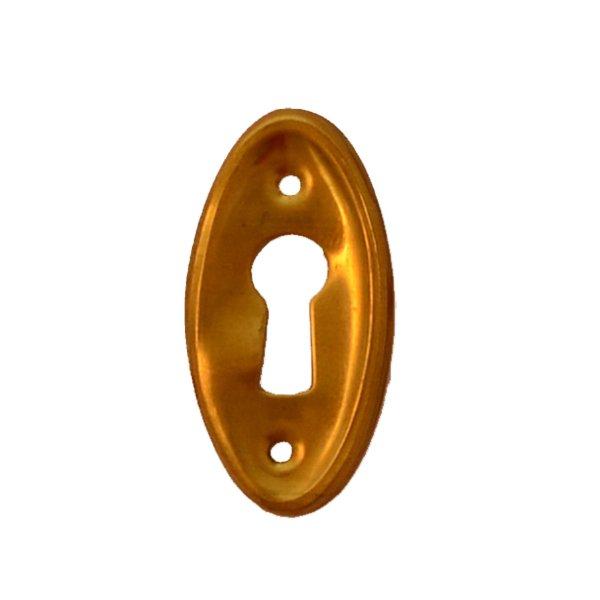Hochkant mit Schlüsselloch AD002Art Deco Maße: 19 mm x 42 mm Messing patiniert Bild1