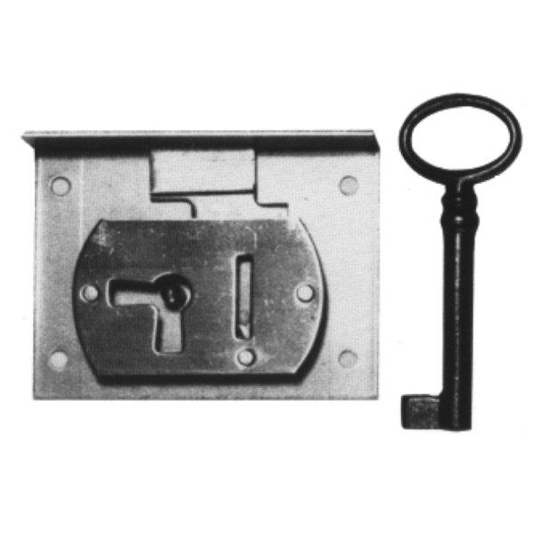Einlassschloss aus Eisen, D 40 mm lad und rechts, der Serie EL008 Bild1