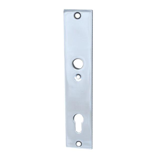 Türschild Dist. 92 mm PZ, Messing verchromt mit Schutzlack ,Inenn Bild1