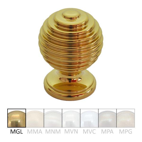 Möbelknopf Messing glänzend mit Schutzlack. D: 30mm Bild1