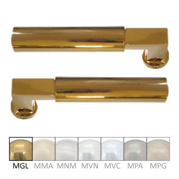 Türdrücker - Paar TD041 Messing glänzend Grifflänge:112 mm inkl. Zubehör Bild1