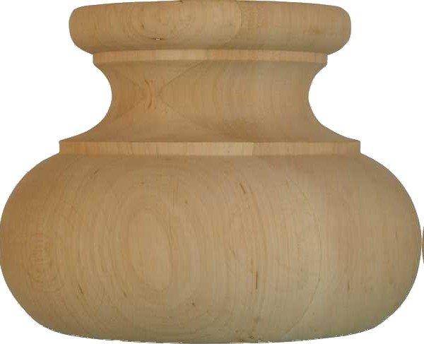 Möbelfuß in unterschiedlichen Holzarten 100x135 mm der Serie HF025 Bild1