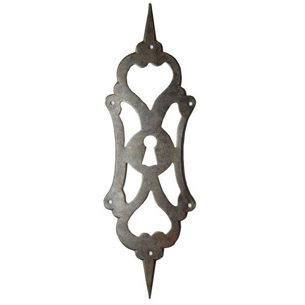 Schlüsselschild in Eisen Schwarz gebrannt. 72x230 mm Bild1