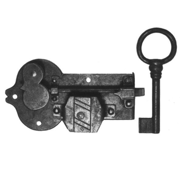 Aufschraubschloss aus Eisen, D 35 - 60 mm der Serie AS103 Bild1