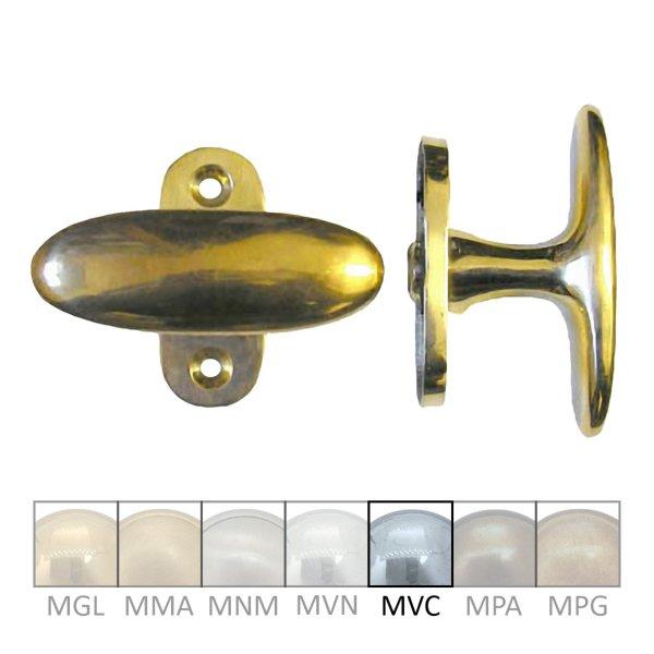 Fensterolive auf Rosette Nr.: 525 Messing MVC Grifflänge 80 mm der Serie FG009 Bild1