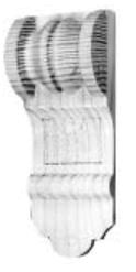 Kapitell in verschiedenen Holzarten 40 x 115 mm der Serie AH046 Bild1