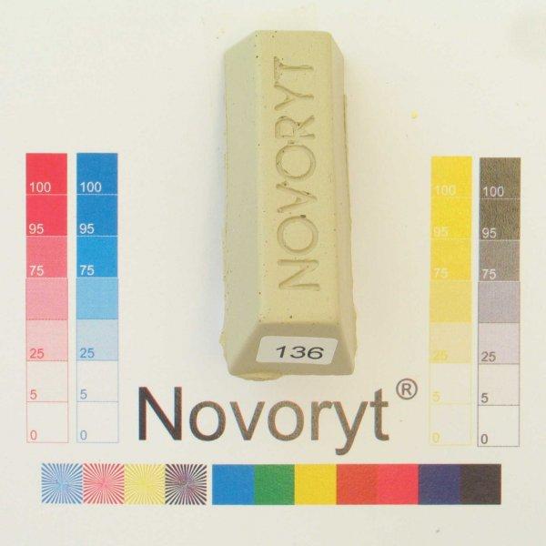 NOVORYT® Schmelzkitt - Farbe 136 seidengrau 1 Stange der Serie HW003 Bild1