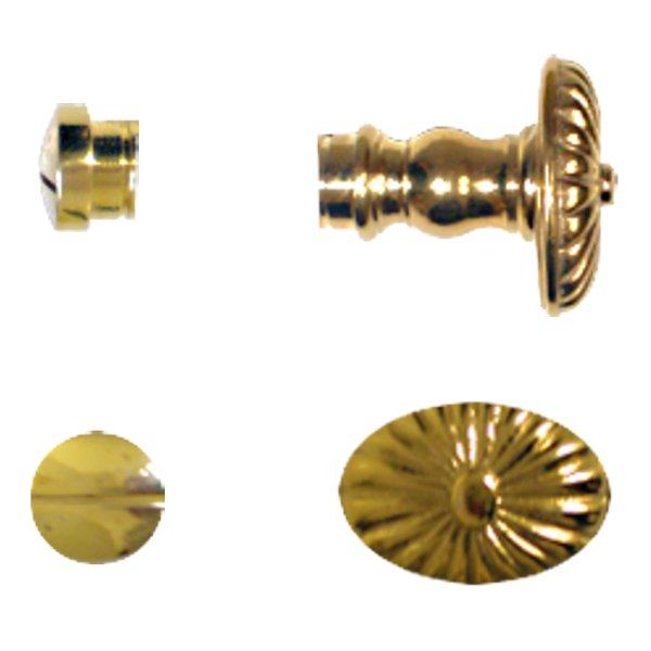 WC Riegel TW118 Messing glänzend Knopfmaße: 40 x 25 mm Bild1