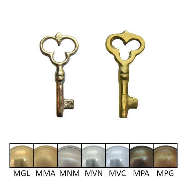 Vollschlüssel Messing glänzend der Serie VS012 Bild1