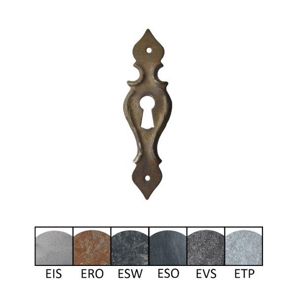 Schlüsselschild 100 x 30 mm Hochkant mit Schlüsselloch, Eisen Bild1