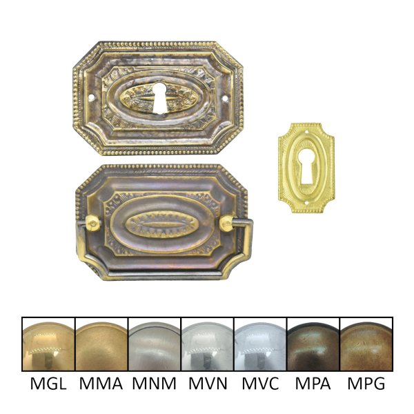 Klassizismus Möbelschild geprägt Messing der Serie KL060 Bild1