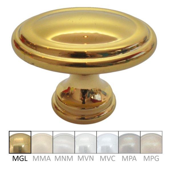 Möbelknopf aus Messing glänzend mit Schutzlack L X B: 35x25 mm Bild1