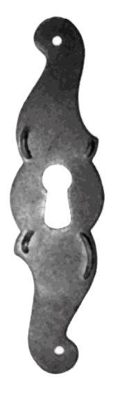 Schlüsselschild Hochkant mit Schlüsselloch, Eisen, 30 x 115 mm der Serie BA020 Bild1