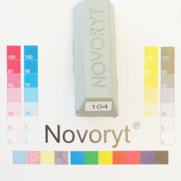 NOVORYT® Schmelzkitt - Farbe 104 silbergrau 1 Stange der Serie HW003 Bild1