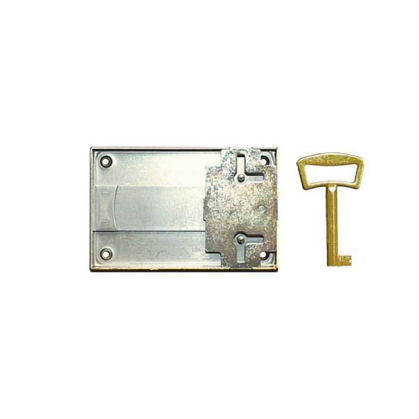 Aufschraubschloss AS005 Eisen bronziert Dornmaß: D80 mm Bild1