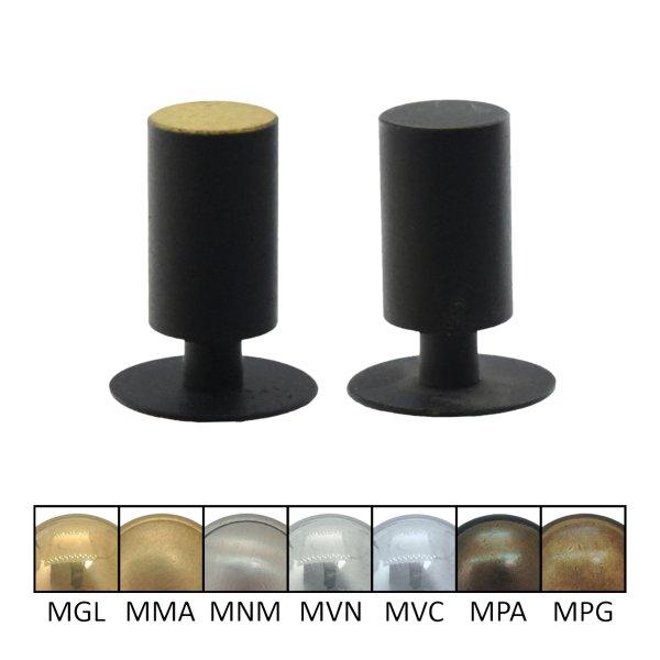 - Möbelknopf in Messing schwarz lackiert ,D: 13 mm Bild1