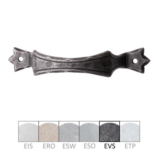 Bügelgriff in Eisen schwarz passiviert. Maße: 117x24 mm Bild1