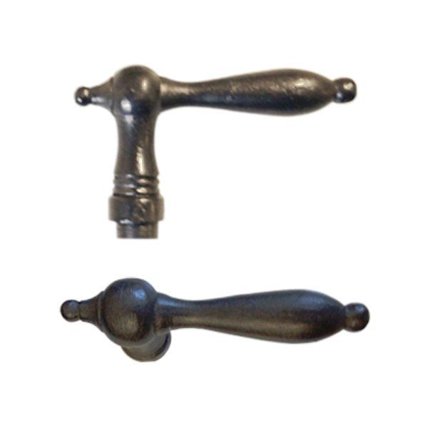 Türdrücker - Griffpaar, Eisen geschmiedet und geschwärzt, Biedermeierzeit, ländlich, Grifflänge 115m, Art. Nr.: 10-606 Bild1