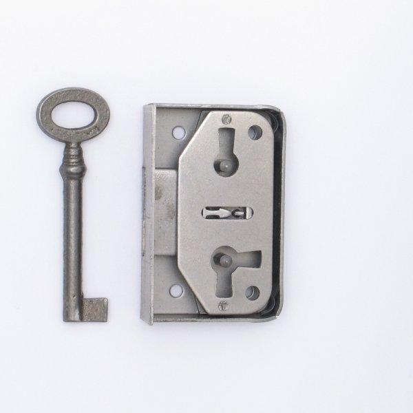 Aufschraubschloss AS001 Eisen roh Dornmaß: D25 mm Bild1