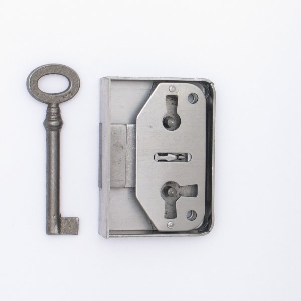 Aufschraubschloss AS001 Eisen roh Dornmaß: D30 mm Bild1