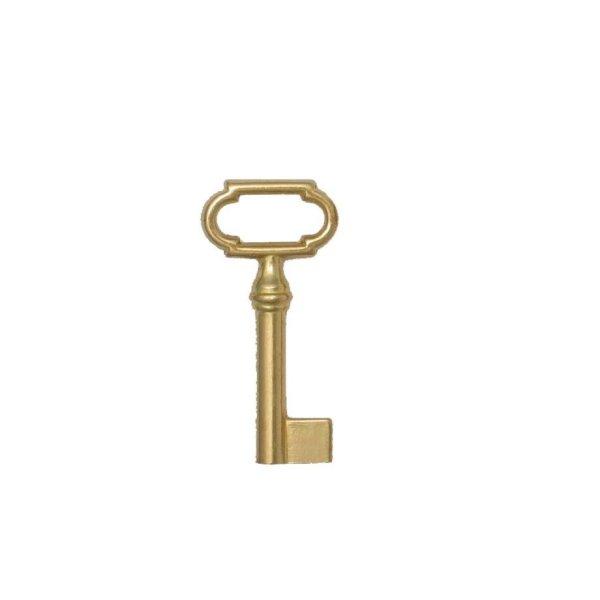 Hohlschlüssel Messing glänzend HL30 HD6 mm der Serie HS005 Bild1