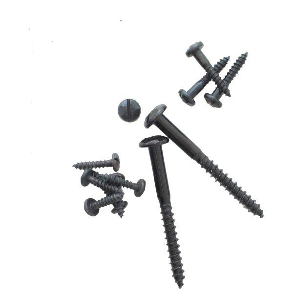 Schrauben, Schlitz, Zierkopf, Eisen Pack 50  4 x 40 mm der Serie ZB100 Bild1