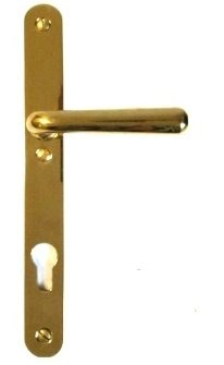 Sicherheitstürschild in Messing (PZ) mit versch. Oberflächen. 255x30 mm Bild1