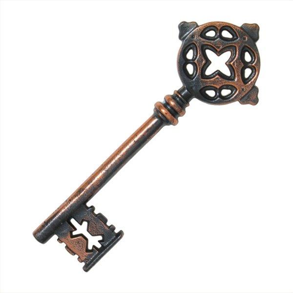 Zierschlüssel aus Eisen, kupferfarben eingefärbt der Serie ZS001 Bild1